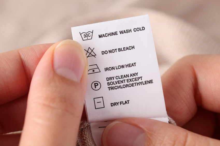attention to care label