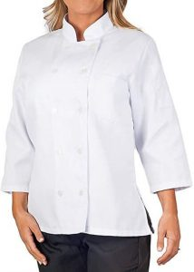 KNG Women's ¾ Sleeve Chef Coat
