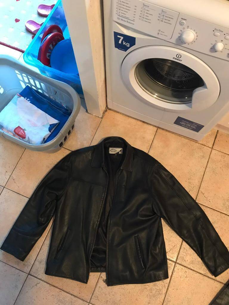 Jacket in a Washing Machine